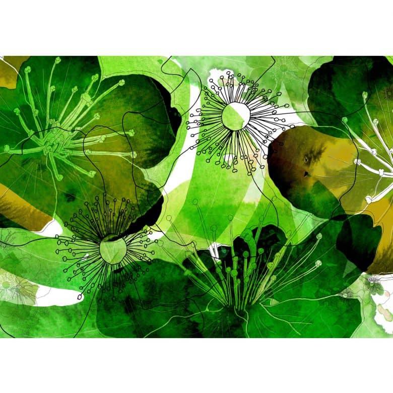 Photo Wallpaper Fleece Watercolour