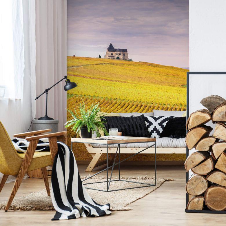 Fototapete Colombo - Weinfelder in der Champagne - 192x260 cm