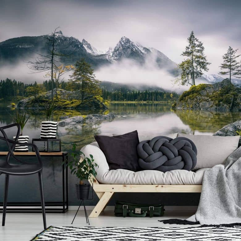 Fototapete Wiemer - Nebel über Hintersee
