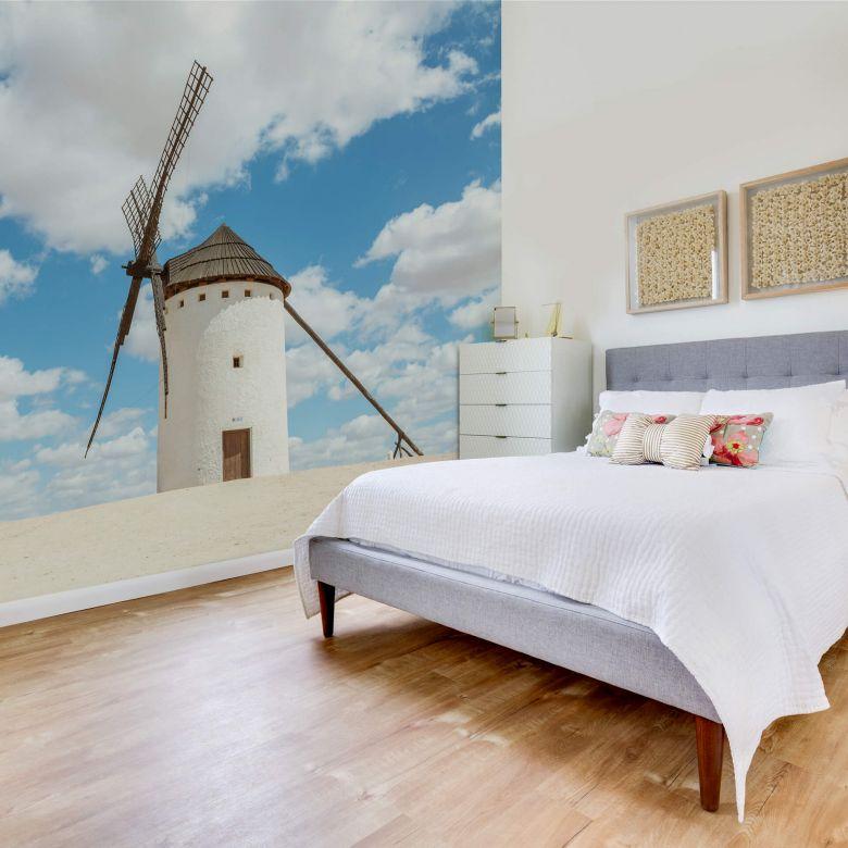 Fototapete Colombo - Windmühlen auf der Don Quijote Route in Spanien