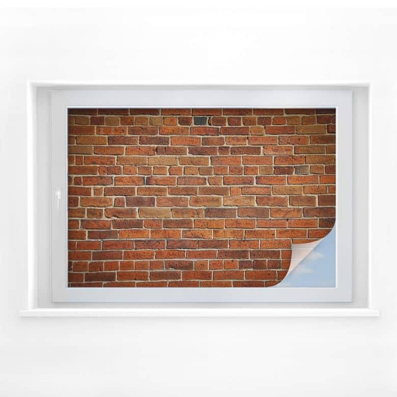 Sichtschutzfolie Ziegelsteinmauer