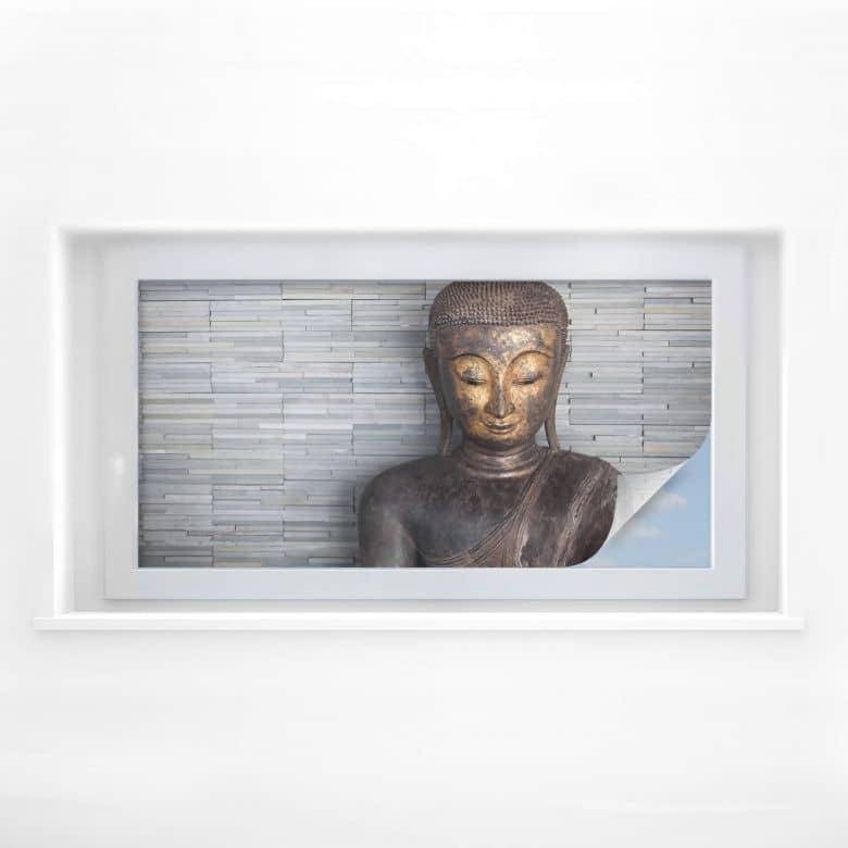 Pellicola adesiva per vetri - Buddha tailandese (panoramica 01)