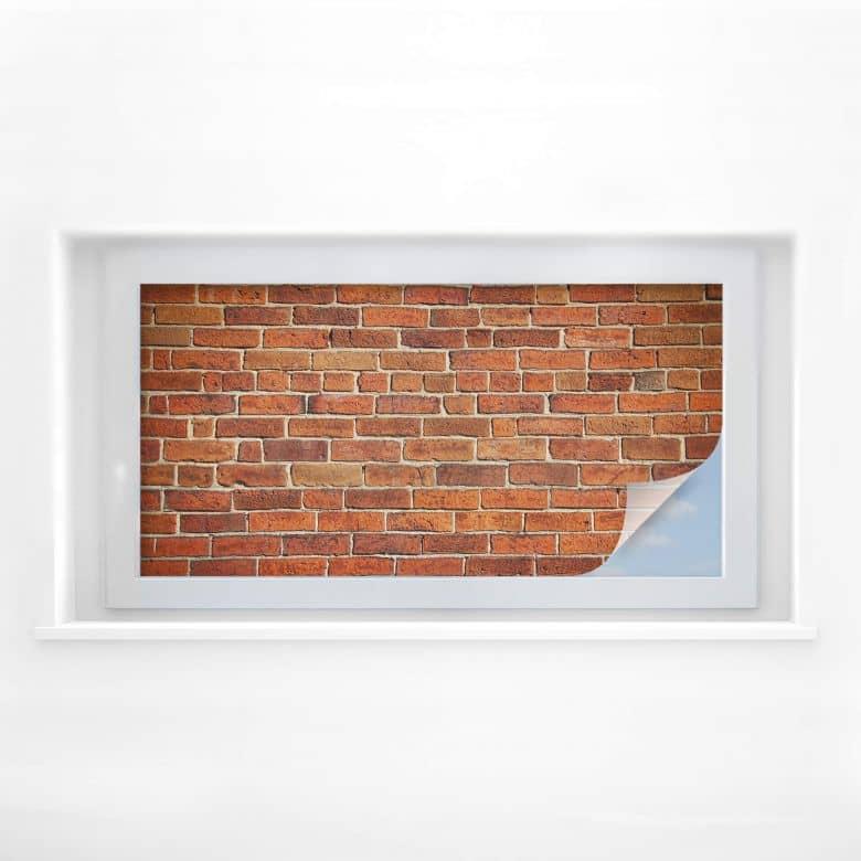 Window foil Brick wall – panorama