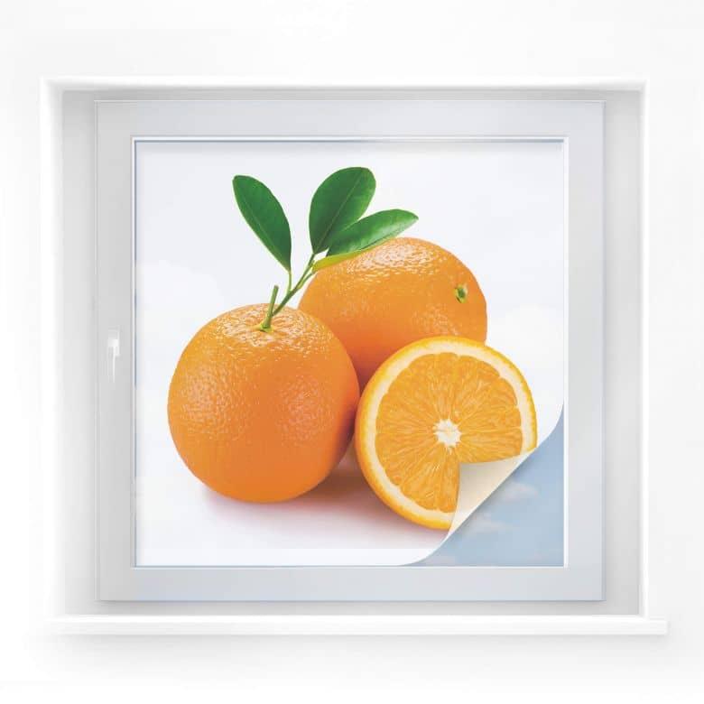 Sichtschutzfolie Oranges - quadratisch