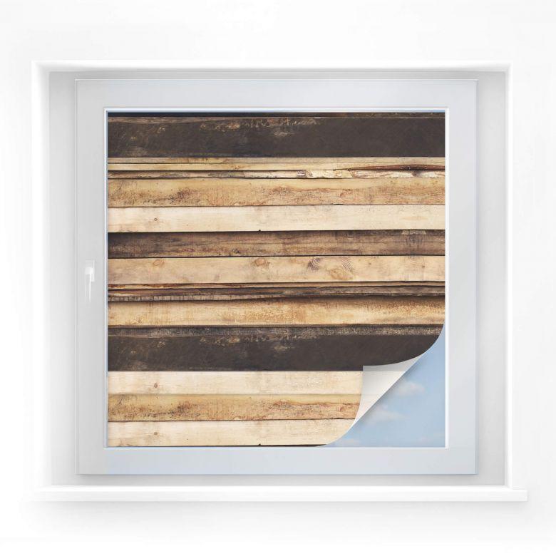Sichtschutzfolie Holzpaneele 04 - quadratisch