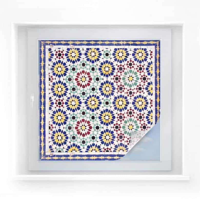 Window foil Oriental Tiles