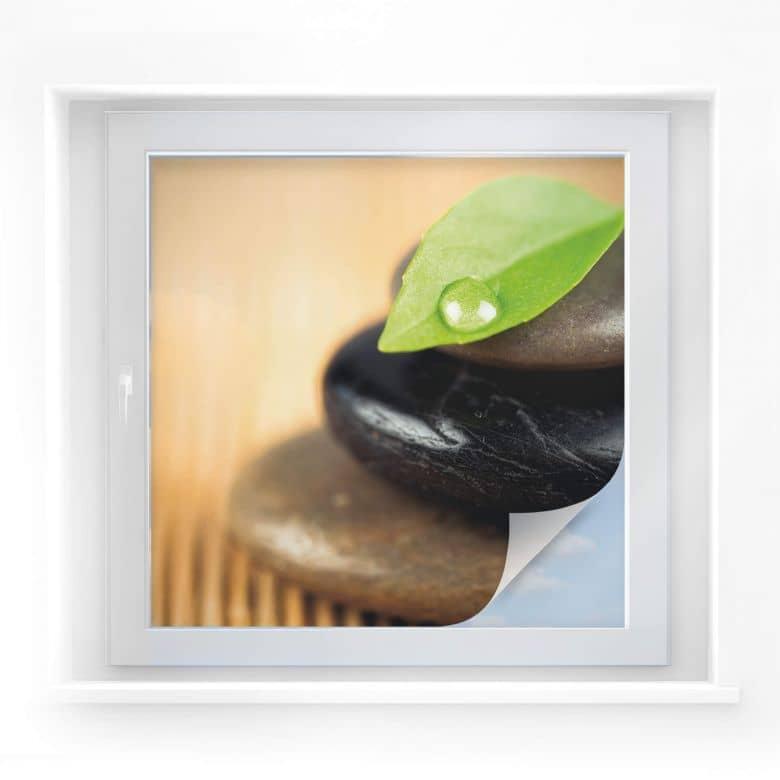 Sichtschutzfolie Wellness Stone - quadratisch