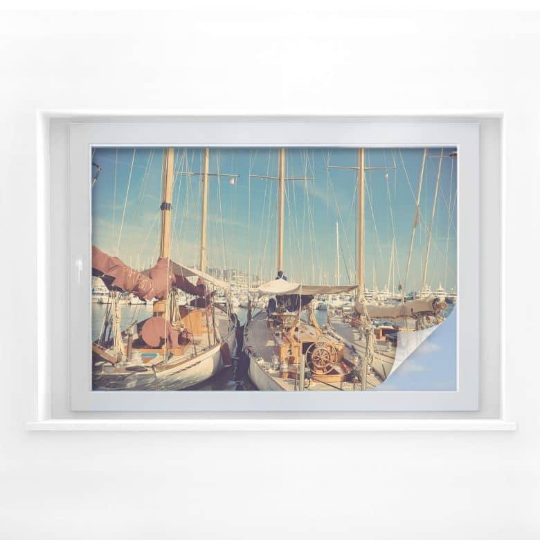 Sichtschutzfolie Segelschiffe im Hafen