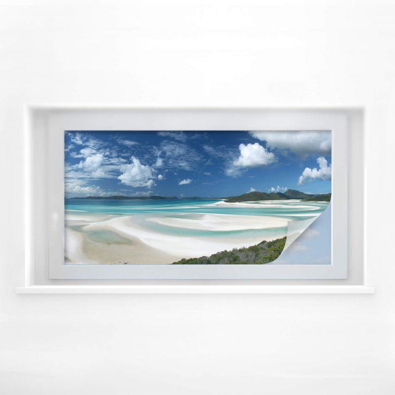 Sichtschutzfolie Whitehaven Beach - Panorama