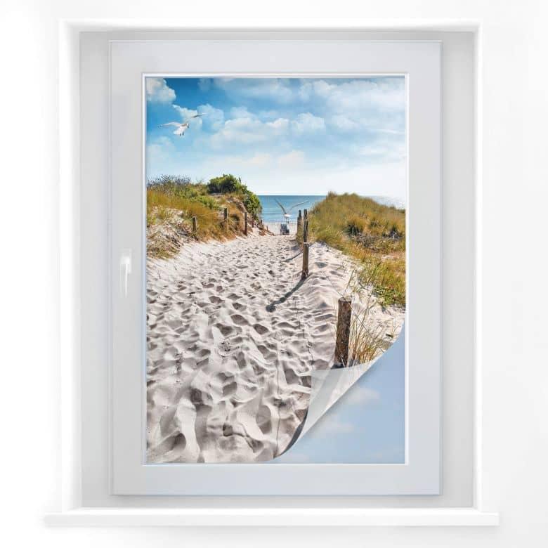Window foil Way to the beach