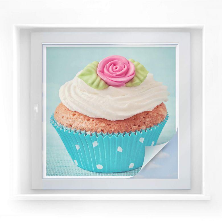 Sichtschutzfolie Sweet Cupcake - quadratisch