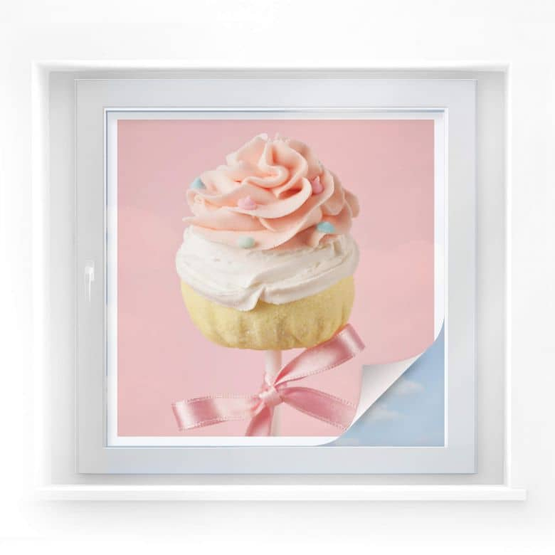 Sichtschutzfolie Lovely Cakepop - quadratisch