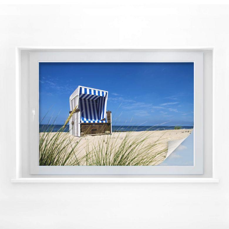 Raamfolie Strandstoelen