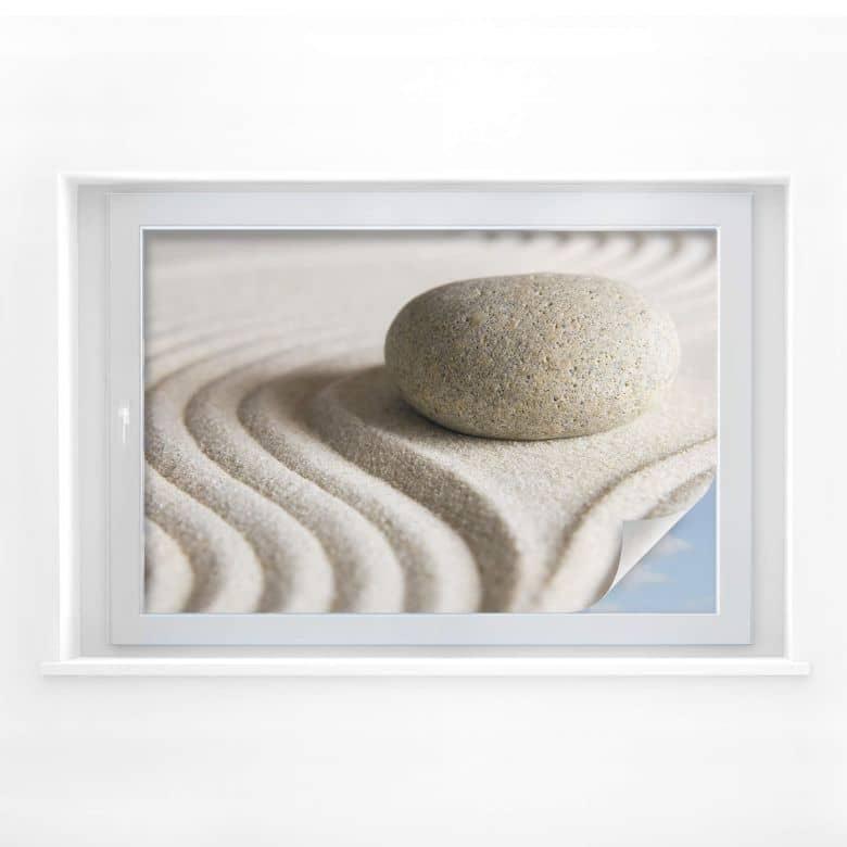 Sichtschutzfolie Stone in Sand 1