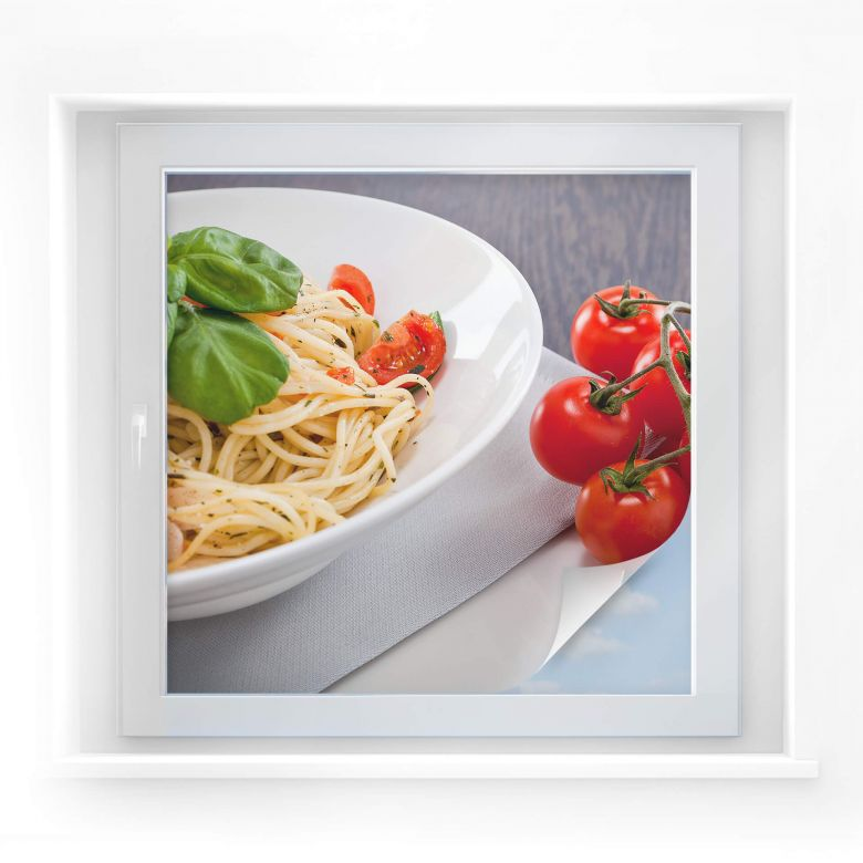 Sichtschutzfolie Pasta Italiano - quadratisch
