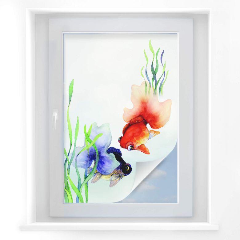 Raamfolie Aquarel Vissen