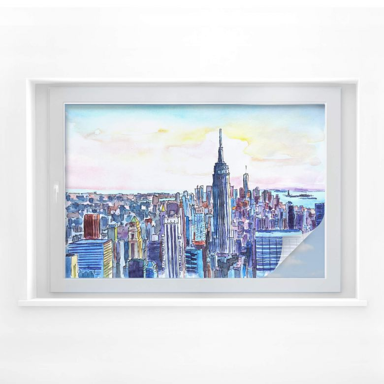 Sichtschutzfolie Bleichner - Manhattan Skyline - A