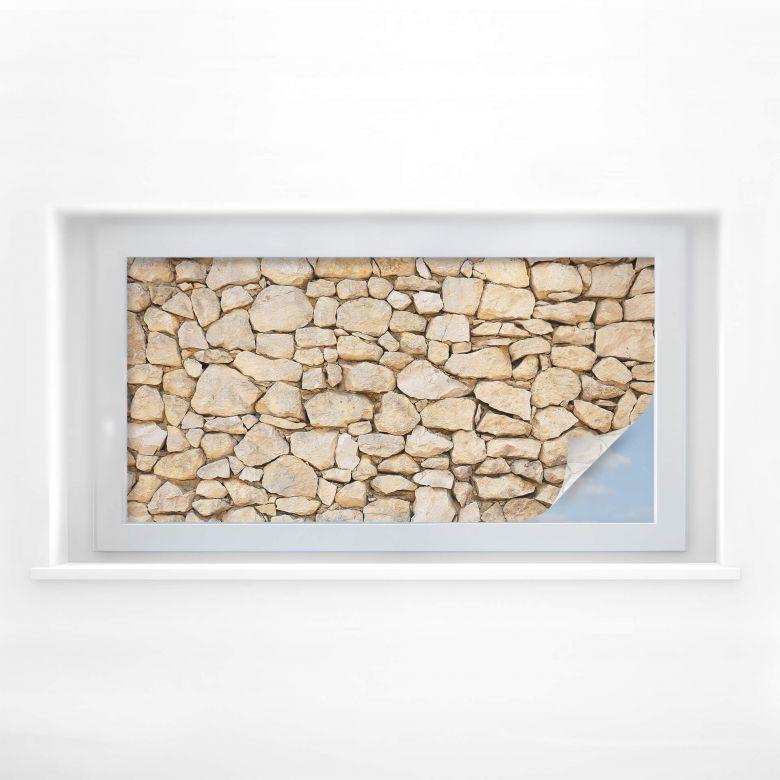 Sichtschutzfolie Mauer 01 - Panorama