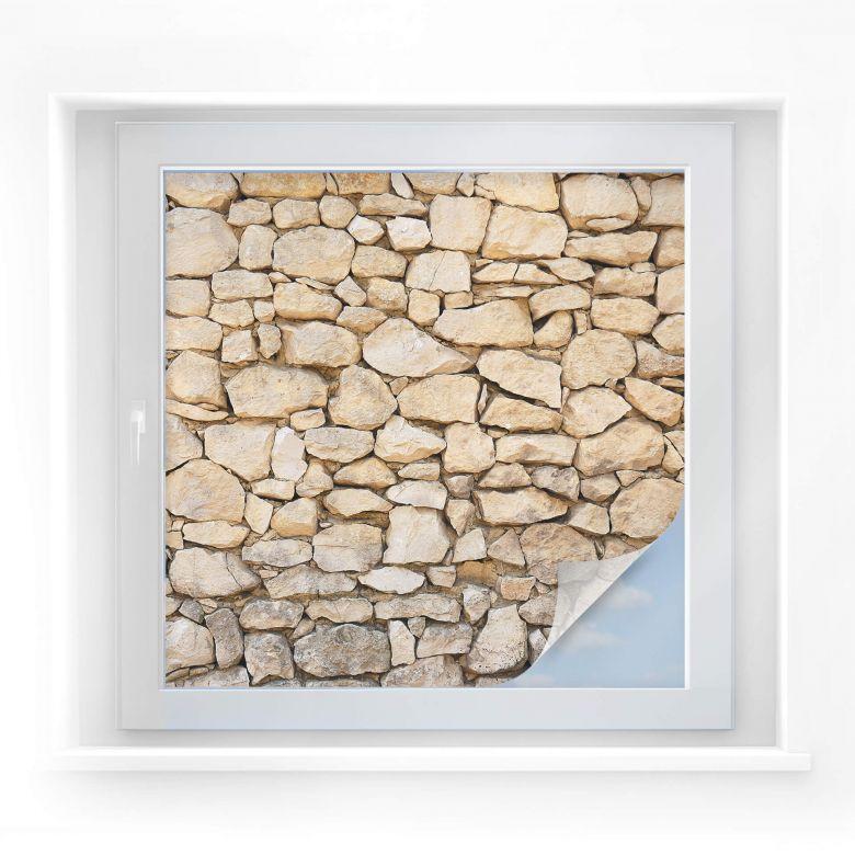 Sichtschutzfolie Mauer 01 - quadratisch