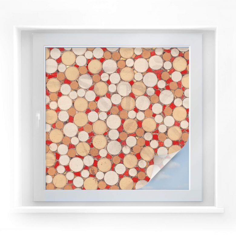 Sichtschutzfolie Mosaik 01 - quadratisch