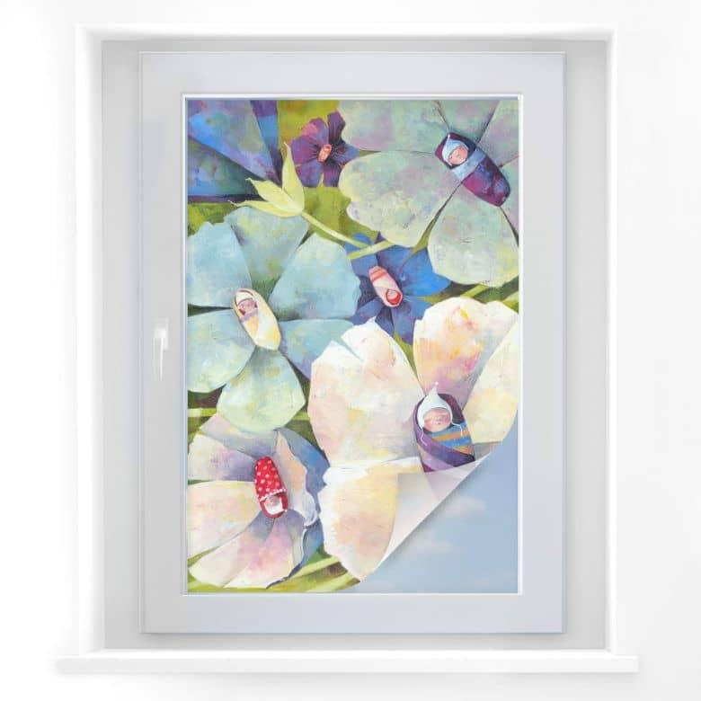 Sichtschutzfolie Blanz - Blütenbabies