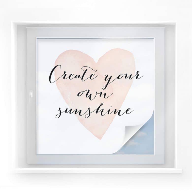 Sichtschutzfolie Confetti & Cream - Create your own sunshine