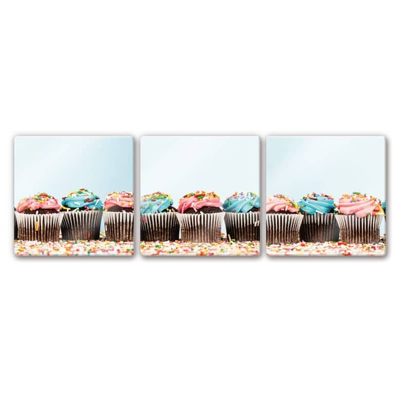 tableau en verre party cupcakes wall. Black Bedroom Furniture Sets. Home Design Ideas