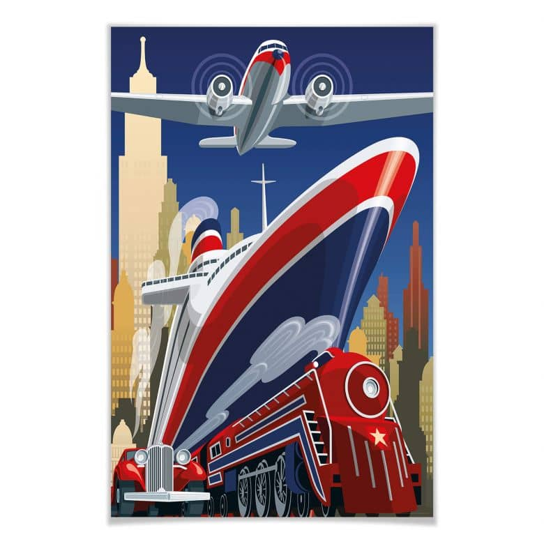 Giant Art® XXL-Poster Point of Departure - 115x175 cm