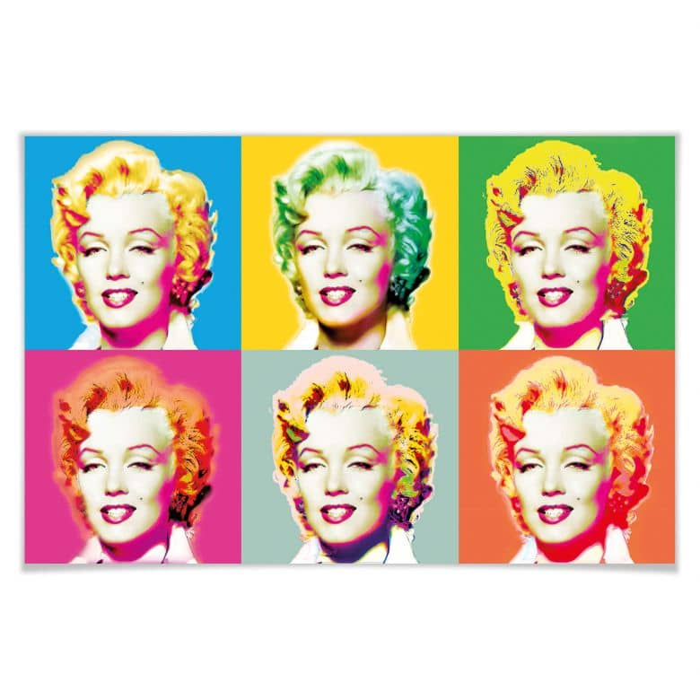 Giant Art® XXL-Poster Visions of Marilyn - 175x115 cm