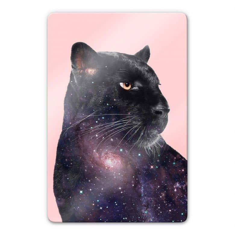 Glasbild Loose – Galaxy Panther