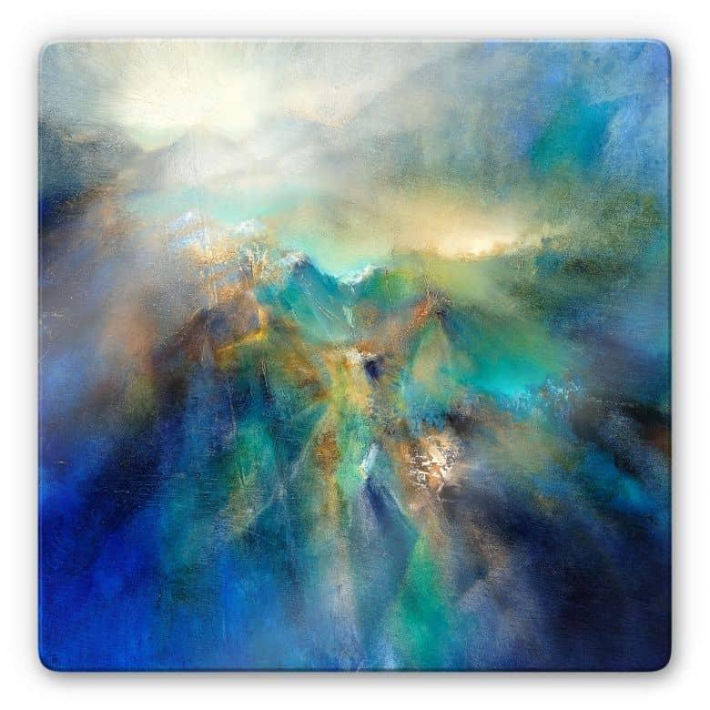 Glasbild Schmucker - Über den Berggipfeln