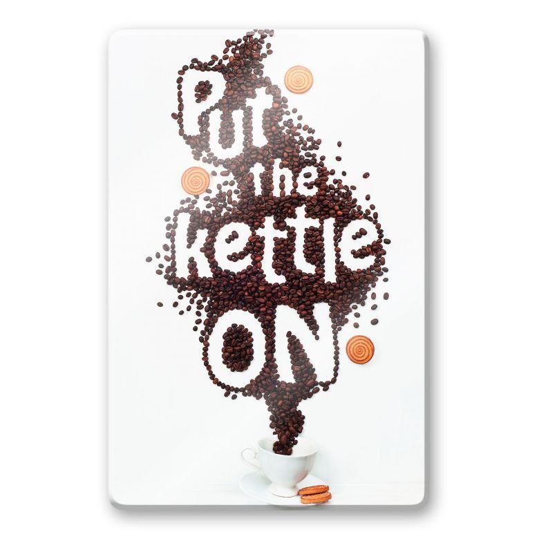 Glasbild Belenko - Put the kettle on