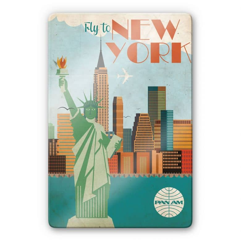 Glasbild PAN AM - Fly to New York