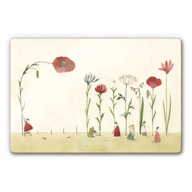 Glasbild Leffler - Blumensamen