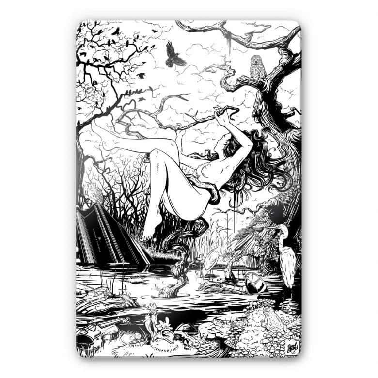 Glasbild Drawstore - Swampland