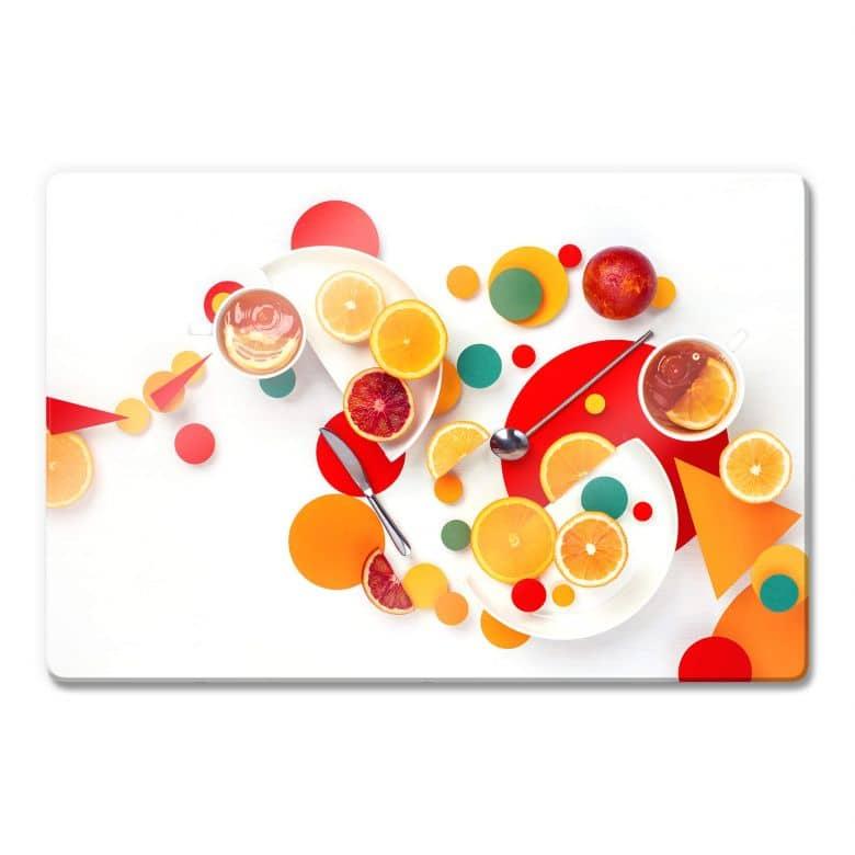Glasbild Belenko - Suprematic Lemon Ice Tea