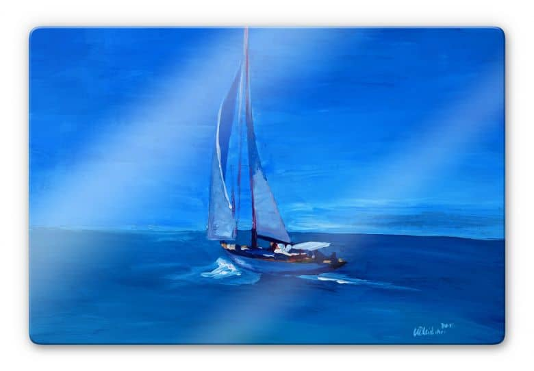 Glasbild Bleichner - Sailing into the Blue
