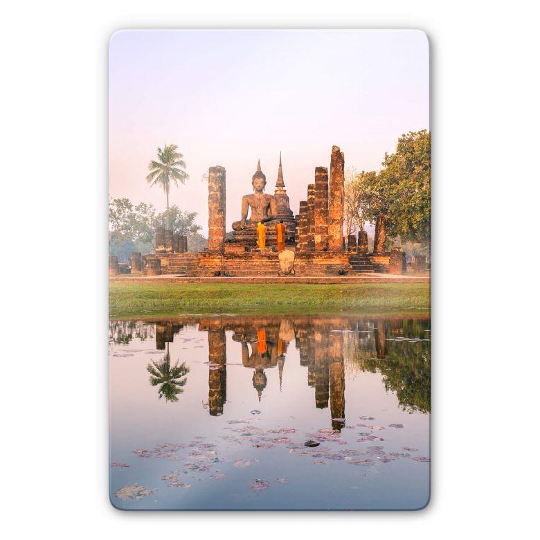 Glasbild Colombo - Buddhistischer Tempel Sukhothai