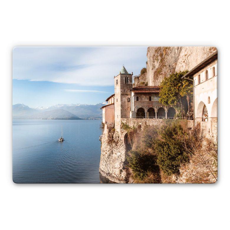 Glasbild Colombo - Am Lago Maggiore