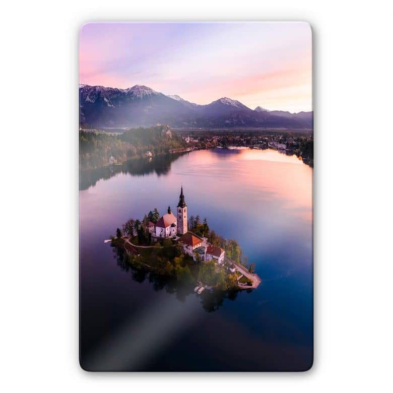 Glasbild Colombo - Bleder See in Slowenien
