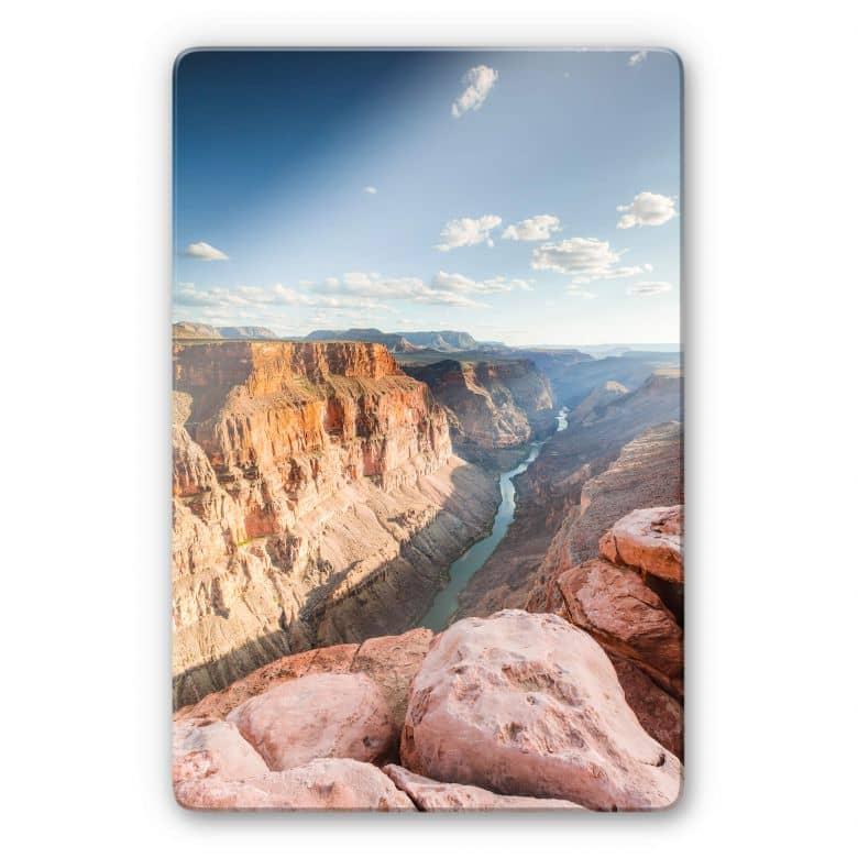 Glasbild Colombo - Colorado River im Grand Canyon