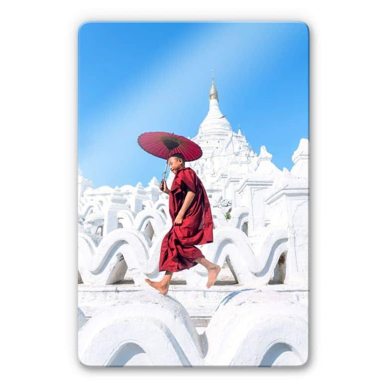 Glasbild Colombo - Der tanzende Mönch