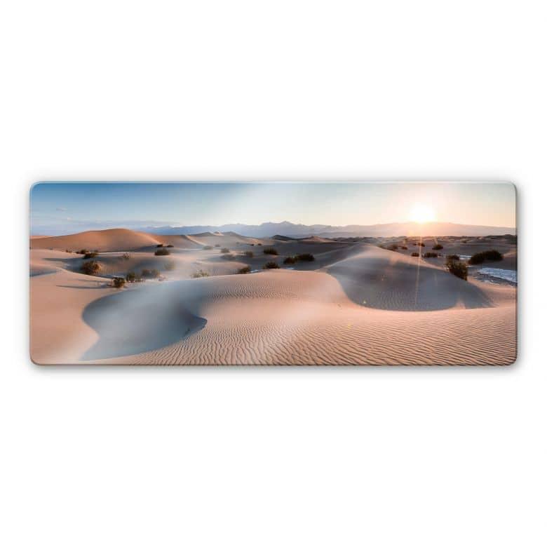 Glasbild Colombo - Die Wüste von Death Valley - Panorama