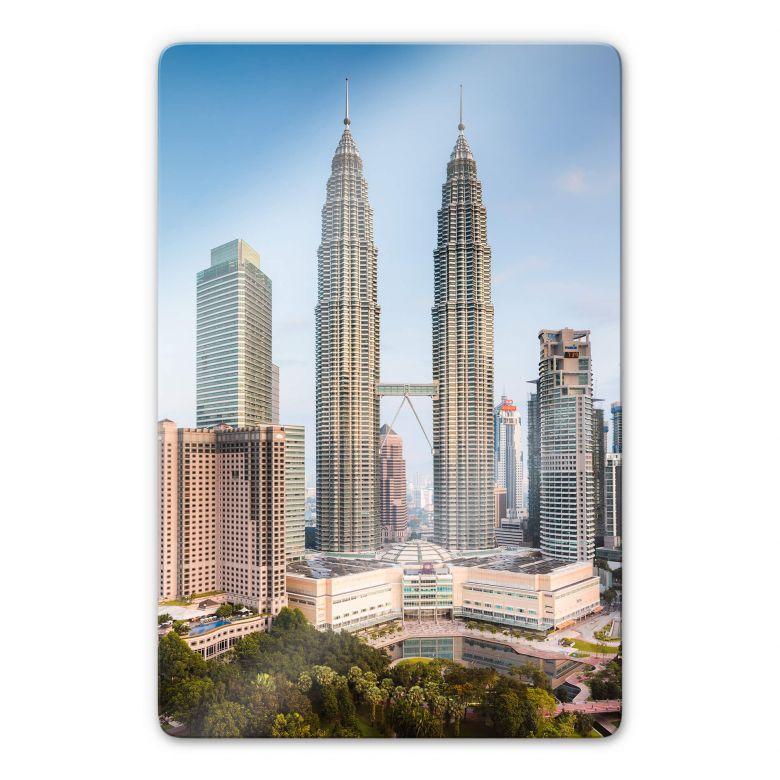 Glasbild Colombo - Petronas Towers in Kuala Lumpur