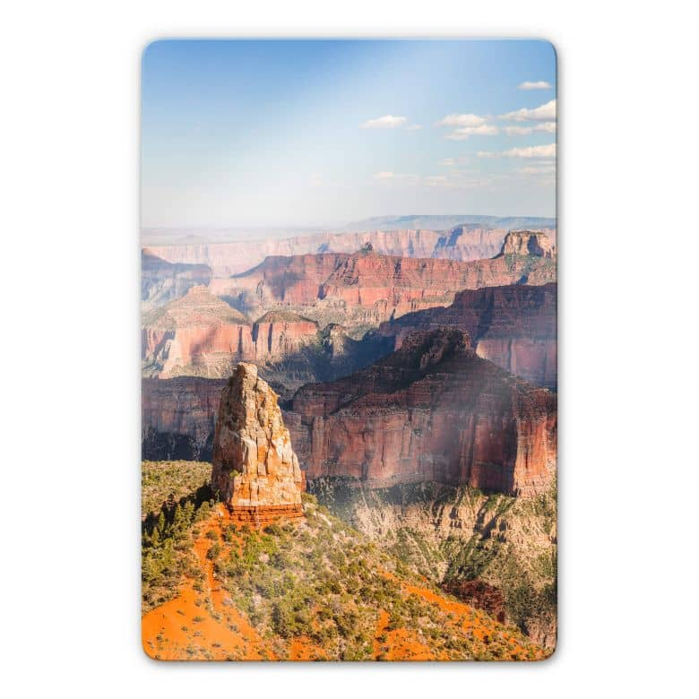 Glasbild Colombo - Point Imperial im Grand Canyon