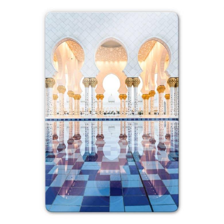 Glasbild Colombo - Sheikh Zayed Moschee in Abu Dhabi