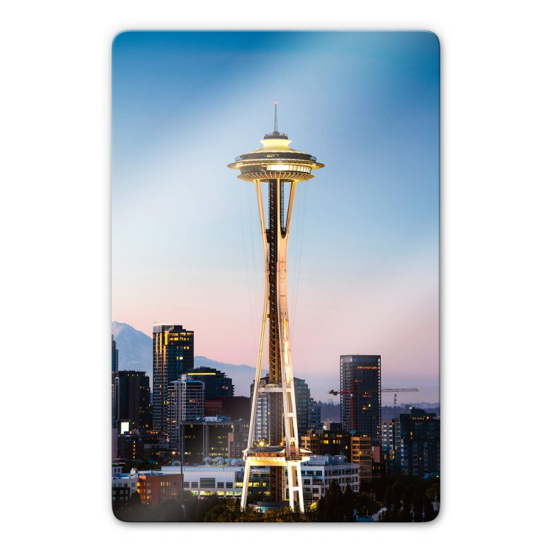 Glasbild Colombo - Space Needle in Seattle