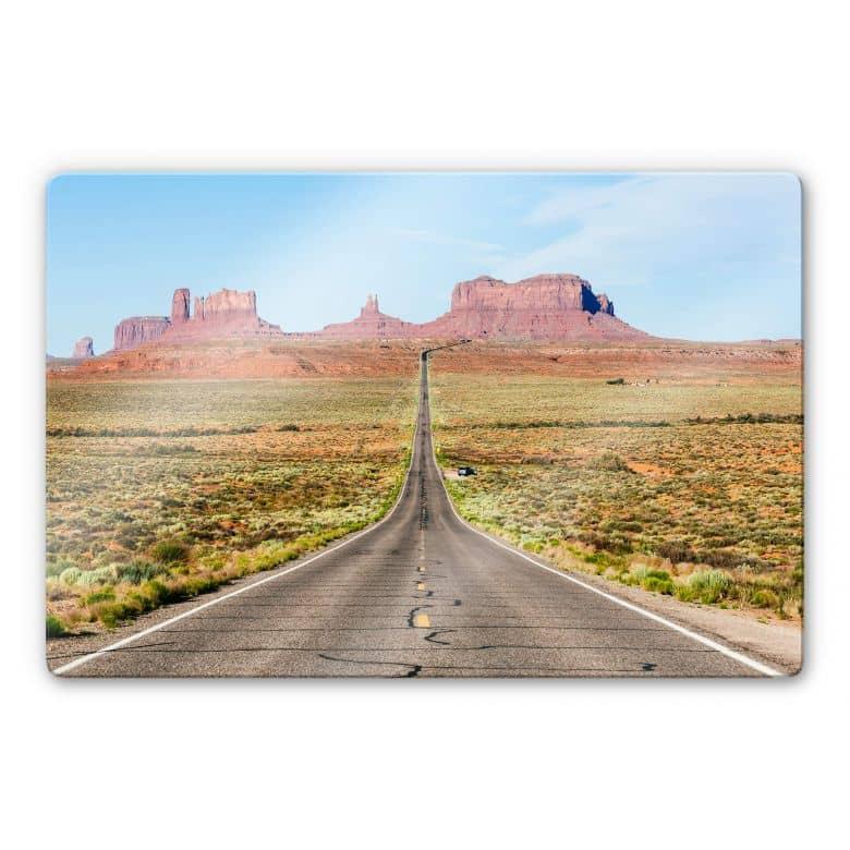 Glasbild Colombo - Monument Valley in Arizona