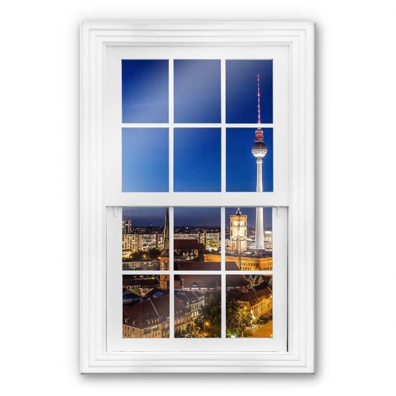 Glasbild 3D - Fenster - Berlin Panorama