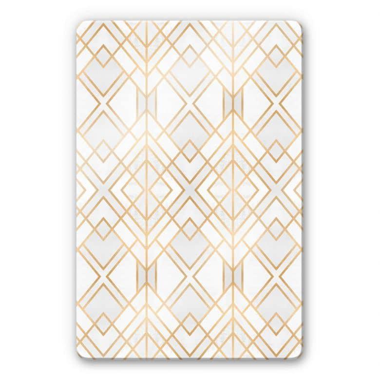 Glasbild Fredriksson - Goldene Geometrie
